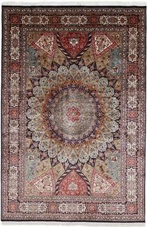 8x5 silk gonbad persian carpet