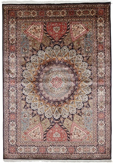 7x5 silk gonbad kashmir carpet