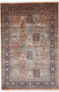 8x5 tile silk kashmir rug