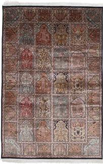 6x3 silk kashmir persian rug