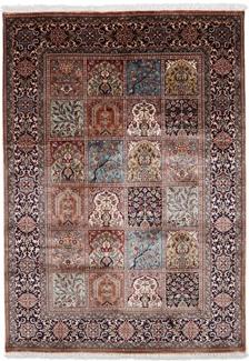 6x4 tile silk kashmir rug
