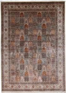 14x10 silk kashmir handmade carpet