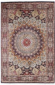 6x4 silk gonbad persian rug