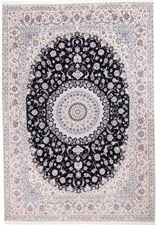 16x11 6lah blue silk nain rug
