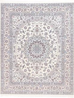 10ft 8ft 6lah blue silk nain rug
