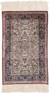 4ft by 3ft silk metal hereke carpet