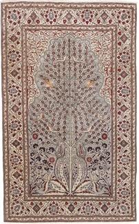 pictorial kayseri silk turkish rug