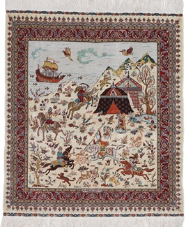 1300 kpsi turkish hereke silk rug
