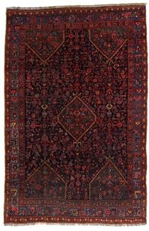 antique old bidjar persian carpet