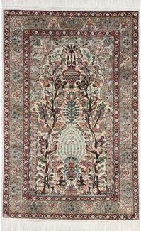 metal silk hereke carpet