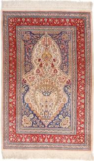 5ft 3ft silk hereke turkish carpet
