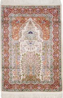 4ft by 3ft hereke silk turkish rug
