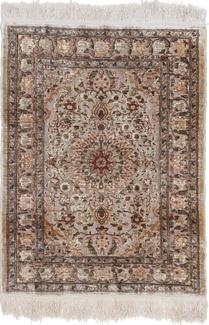 silk metal turkish hereke carpet