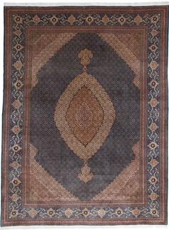 13x10 mahi tabriz persian rug turquois