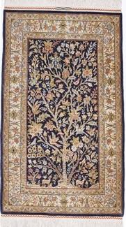 pictorial silk hereke turkish carpet