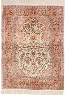 5ft silk hereke turkish carpet