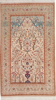 antique silk hereke turkish rug