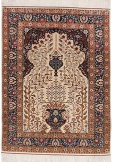 genuine silk hereke turkish carpet