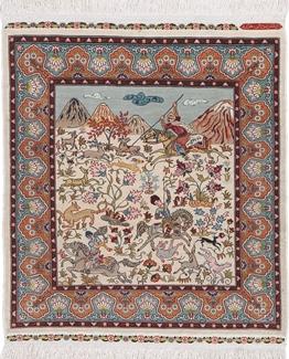 900 kpsi square hereke silk carpet