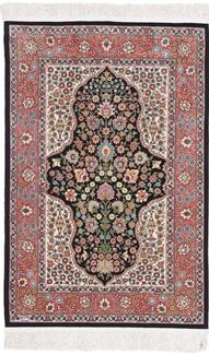 4ft 3ft silk hereke turkish carpet