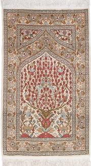 3ft 1m silk hereke turkish rug