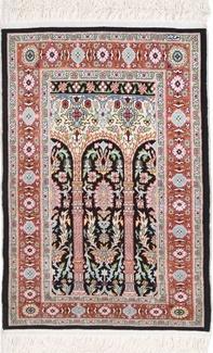 fine silk hereke turkish carpet
