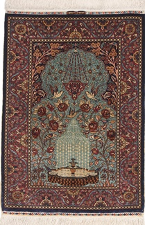 hereke derin silk turkish rug