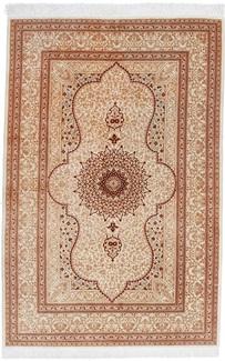 6x4 silk 600kpsi qum persian rug