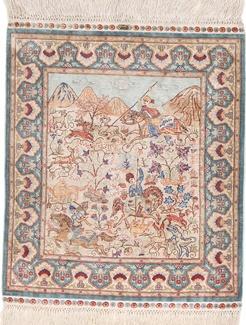 1300 kpsi square hereke silk carpet