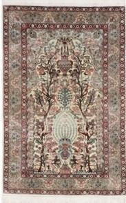4x3 metal silk hereke rug