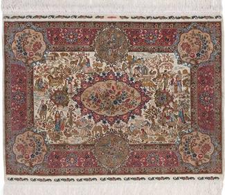 1500 kpsi square hereke silk carpet