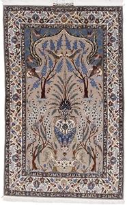 6x4 500kpsi silk isfahan rug