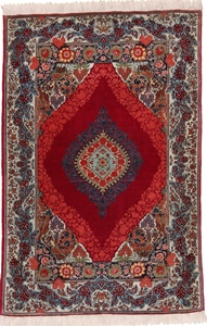 5x3 red silk tabriz persian rug