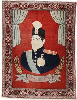 antique pictorial ahmad shah qajar persian carpet