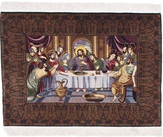 silk cinar turkish last supper rug
