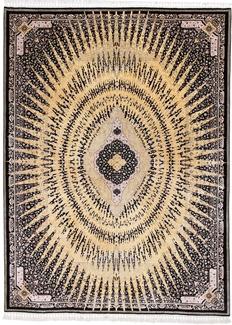 fine silk gonbad persian carpet