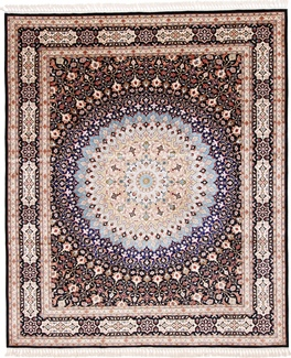 fine silk gonbad persian carpet