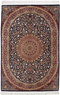 6x4 900kpsi qum silk rug