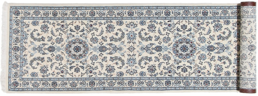 10x2 Beige Nain Persian Rug Runner 9 Lah Nain Persian Carpet