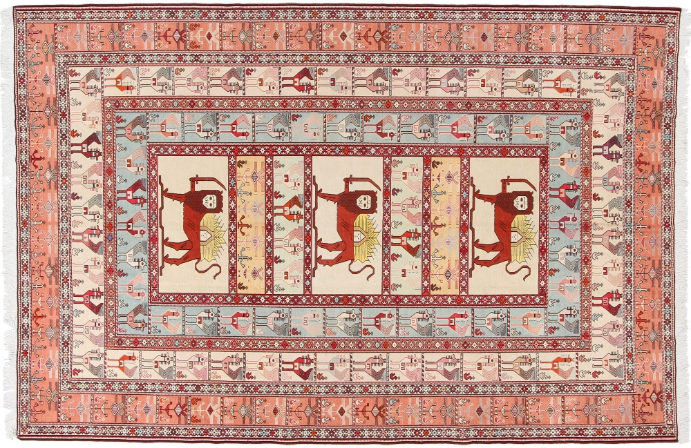 9x6 kelim silk persian rugs