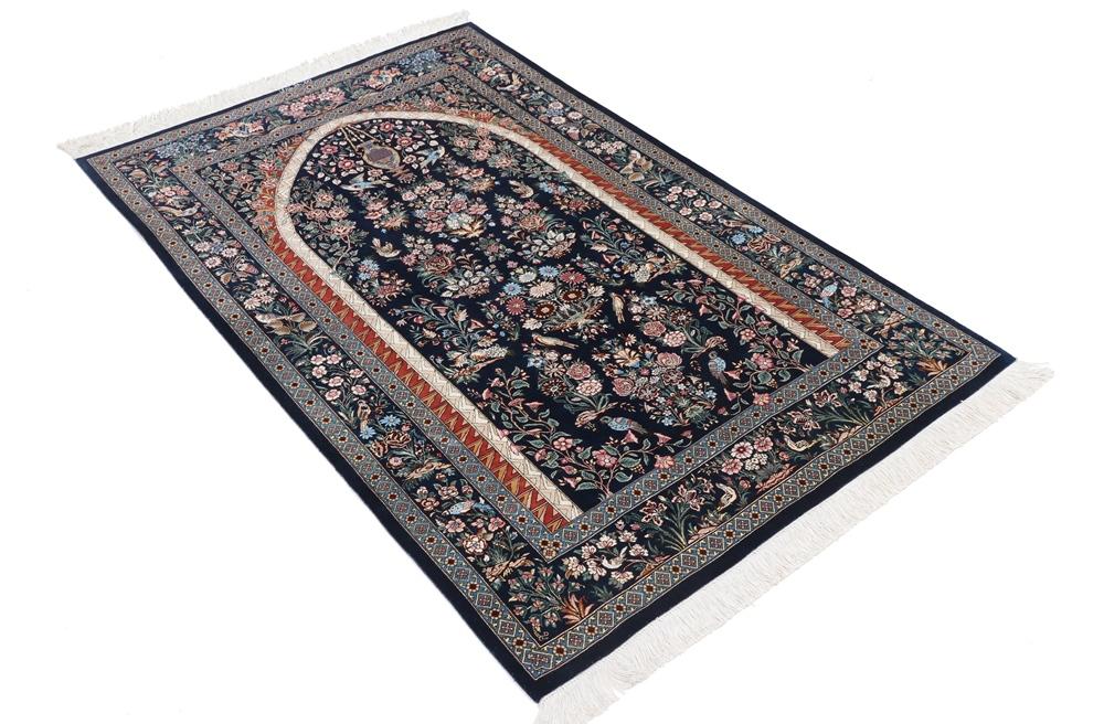 pictorial silk qum rug qom carpet