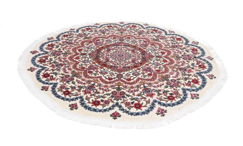 Metal round Tabriz persian rug