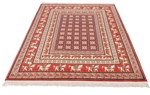 6x5 silk tabriz persian rug with pazyryk design