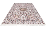 metal soof tabriz rug with silk