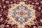 7x5 beige tabriz persian rug with silk