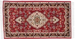 5x3 red tabriz persian rug with silk