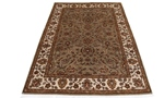 6x4 wool persian rug with silk highlights