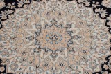 10x8 navy blue nain persian rug