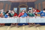 jesus last supper tabriz persian rug