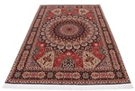 7x5 gonbad tabriz rug with silk